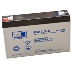 Akumulator MW7,2-6  (7,2Ah 6V)
