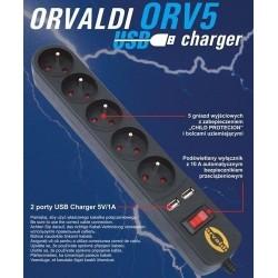 Listwa ORVALDI ORV5 3m USB