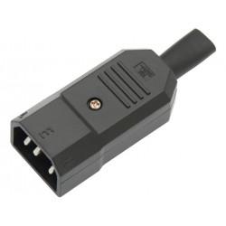 Wtyk IEC320 C14 10A typu M...
